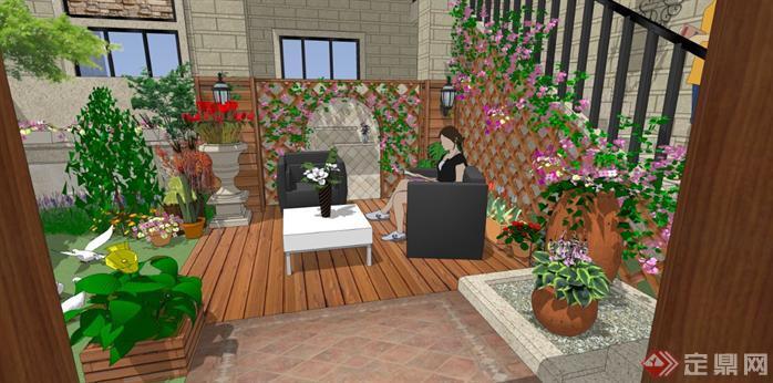 华北地区某项目庭院SU模型含效果图6