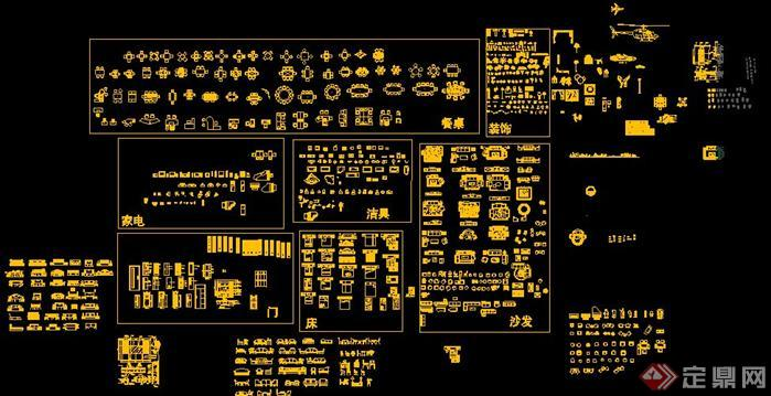 CAD素材总图块6