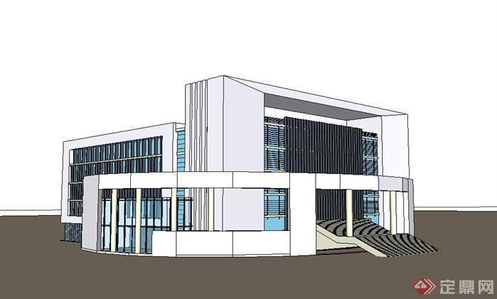 办公楼建筑设计su模型合集1