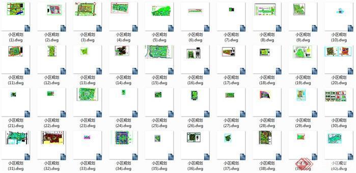 超多小区规划设计方案CAD总平面图2