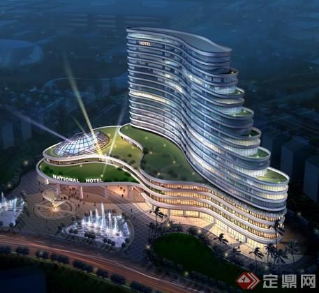 五星酒店效果图和CAD平面图1