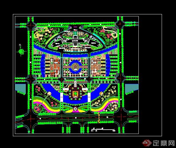 4广场景观绿化规划图纸