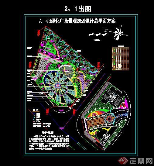 8绿化广场景观设计总平面图