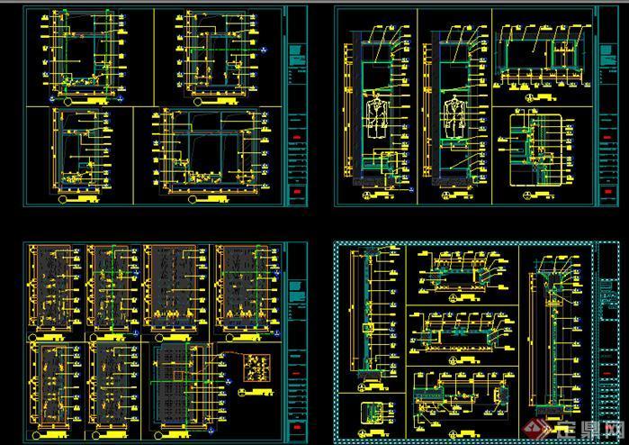 北京两层欧式别墅建筑室内装修设计全套施工图纸5