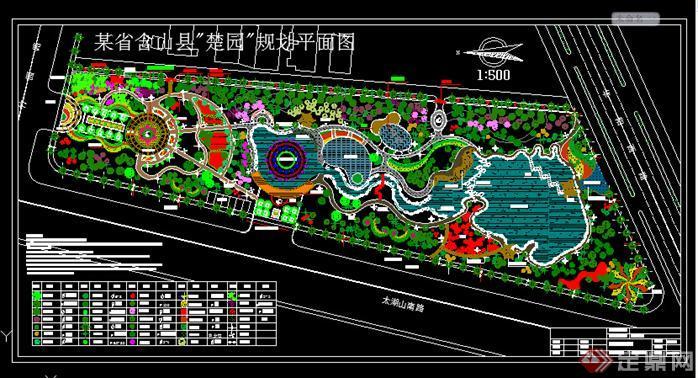楚园规划平面图