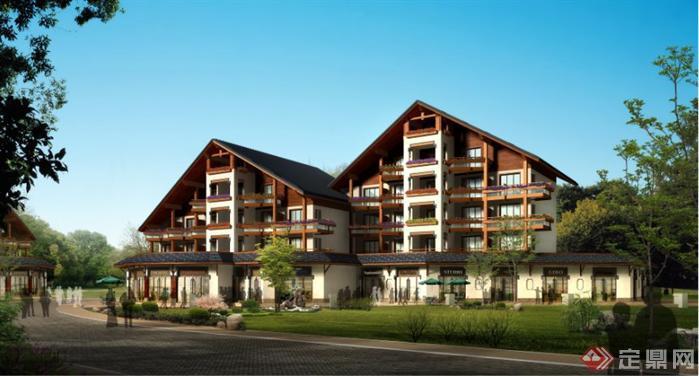 某中式度假酒店建筑设计方案资料(1)