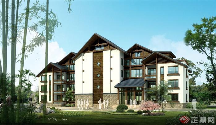 某中式度假酒店建筑设计方案资料(3)