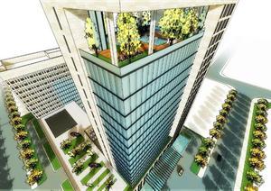 某高速公司高层办公建筑设计方案图