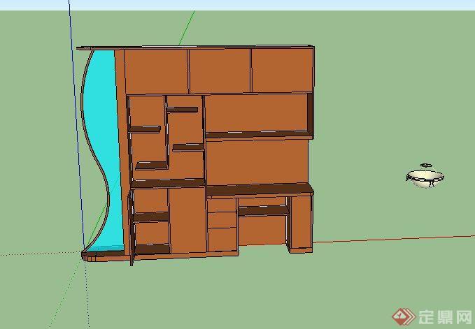 电视背景墙和隔断设计su模型(2)
