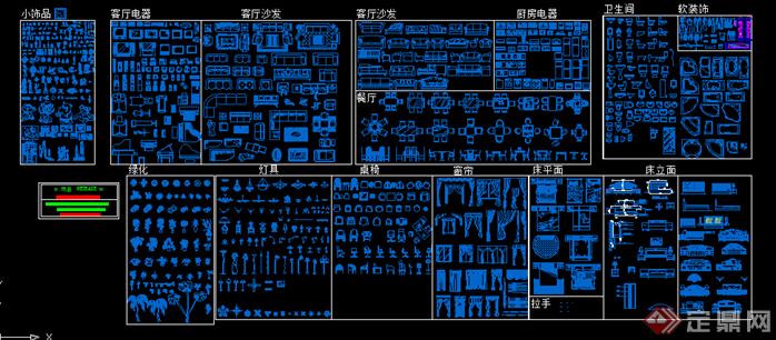 CAD室内设计图库(2)