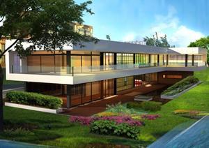 一个现代别墅设计方案资料