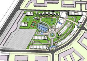 小区规划+住宅设计sketchup模型