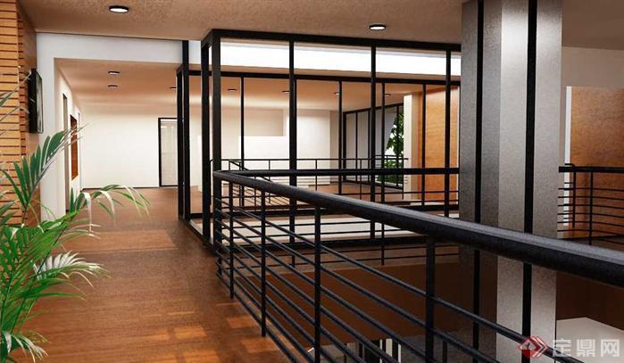 一个现代别墅空间设计方案图(1)