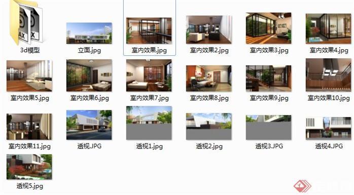 一个现代别墅空间设计方案图(2)