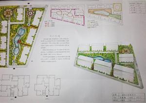 小区景观设计快题图纸