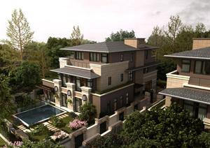 草原风独栋别墅建筑3DMAX模型设计