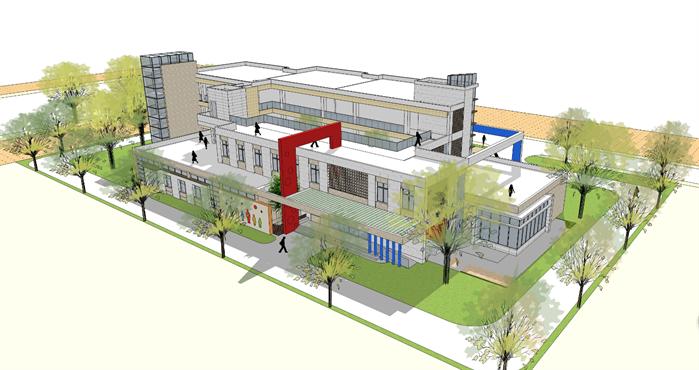某幼儿园建筑方案设计效果图1