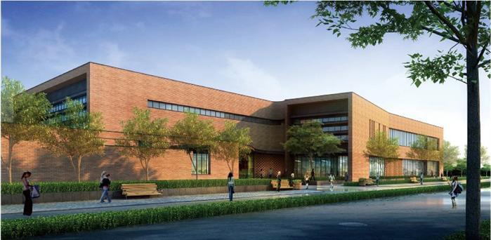 两层食堂餐厅建筑设计方案及cad平立剖(1)
