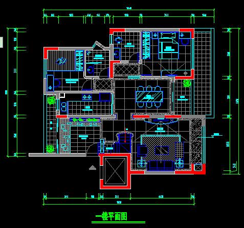 二层别墅装饰施工图-约220平(2)
