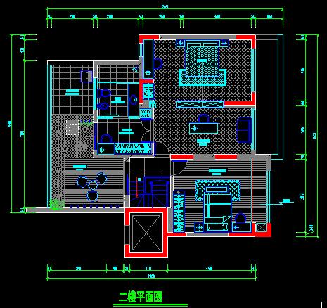 二层别墅装饰施工图-约220平(3)