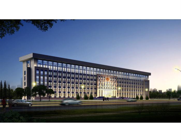 某镇政府办公楼平面立面总图(1)