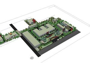 某厂房建筑设计方案 SU(草图大师)模型