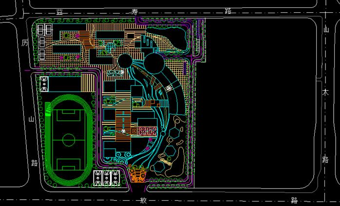 某校园景观规划设计方案CAD1