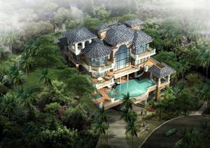 深圳市某新古典风格别墅建筑设计方案图