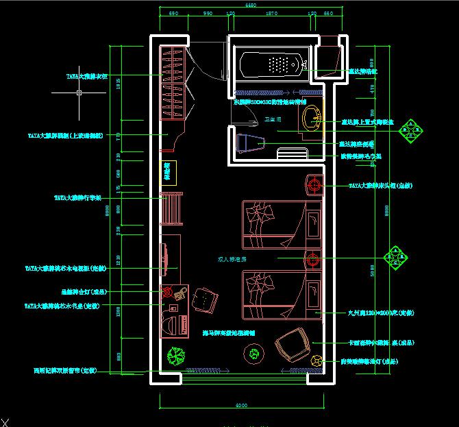 某酒店方案设计CAD平面图1