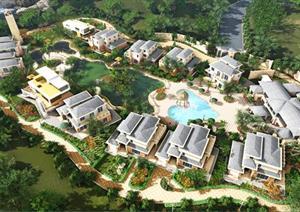 一套别墅景观设计方案FLV视频展示