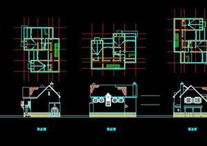 某欧式别墅建筑设计方案图