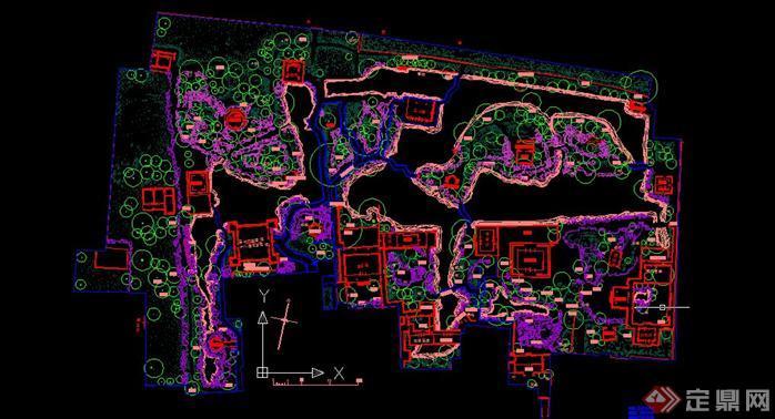 蘇州五大古典園林的CAD總平面圖(1)