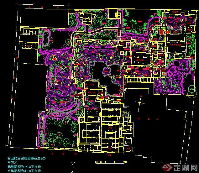 蘇州五大古典園林的CAD總平面圖(2)