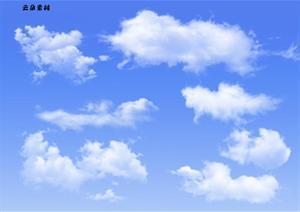 PSD格式云朵素材大全