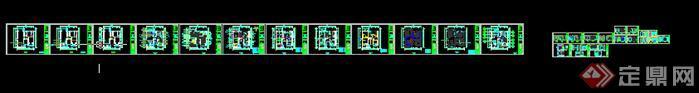 某新中式家裝施工圖設計方案(含效果圖)5