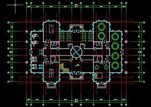 某现代风格别墅建筑的设计方案图