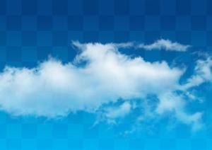 透明云朵云层素材效果图PSD分层图