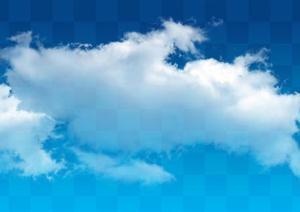 某透明云朵云层素材效果图PSD分层素材
