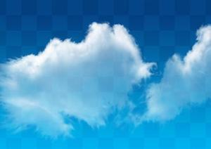 透明云朵云层素材PSD分层素材