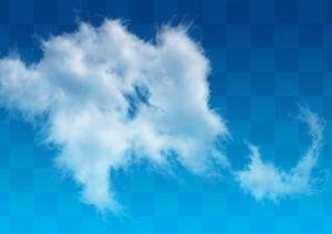 透明云朵云层效果图PSD分层素材