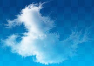 一组透明云朵云层素材PSD分层素材