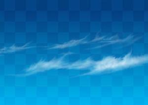 透明云朵云层效果图PSD分层素材4
