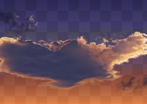 透明的云朵云层素材效果图PSD分层素材