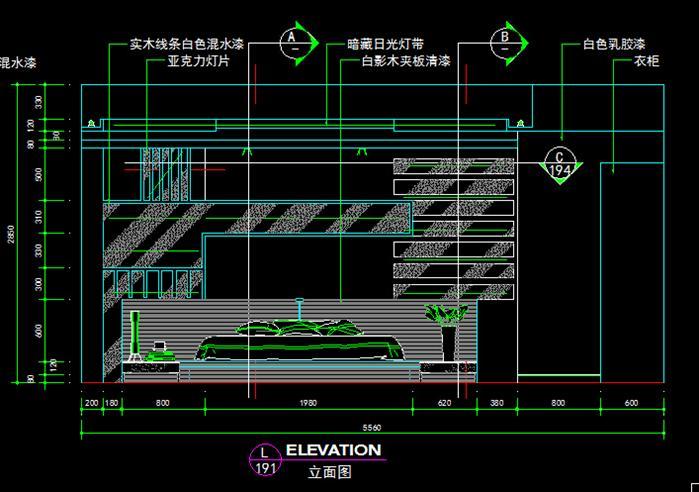 三室兩廳一廚一衛一保姆房裝飾設計圖-約200平(5)