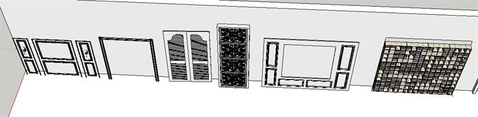 室内装饰常用素材su模型(2)