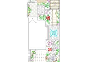 某别墅庭院规划设计方案图