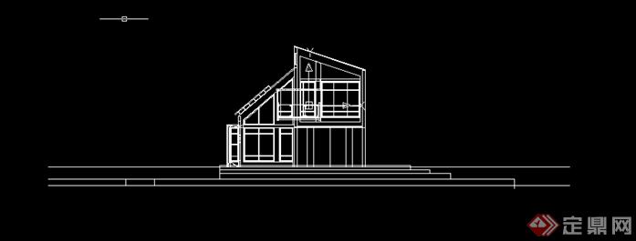 某餐饮茶室建筑方案设计SU模型(含CAD方案图)(2)