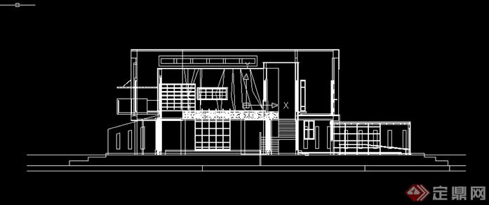 某餐饮茶室建筑方案设计SU模型(含CAD方案图)(3)