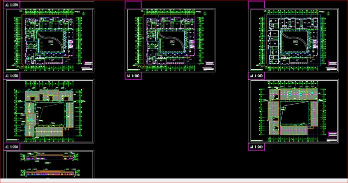 某火葬场殡仪馆建筑方案设计CAD平面图