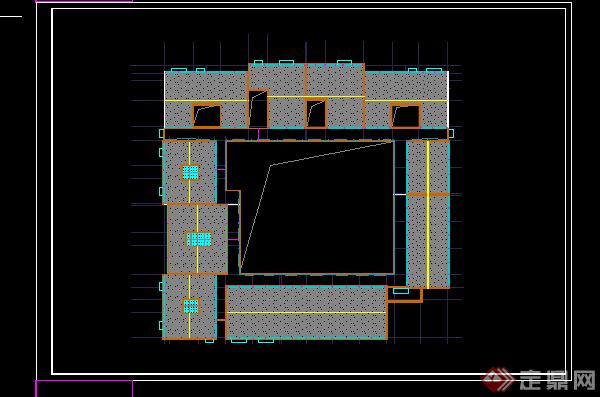 某火葬场殡仪馆建筑方案设计CAD平面图(3)